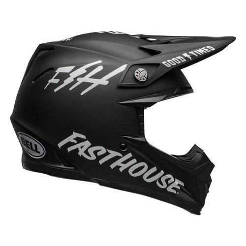 Bell Moto-9 MIPS Helm Fasthouse Glanzend Wit / Zwart