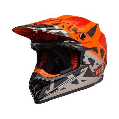 Bell Moto-9 MIPS Helm Tremor Mat / Glanzend Zwart / Oranje / Chroom