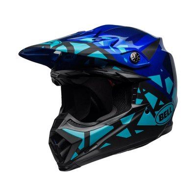 Bell Moto-9 MIPS Helm Tremor Matt / Blau / Schwarz