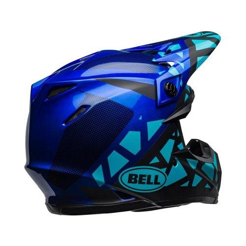 Bell Moto-9 MIPS Helm Tremor Mat / Glanzend Blauw / Zwart