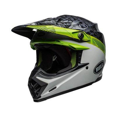 Bell Moto-9 MIPS Helm Chief Mat / Glanzend Zwart / Wit / Groen