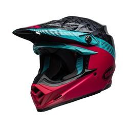 Moto-9 MIPS Helm Chief Matt / Gloss Schwarz / Pink / Blau