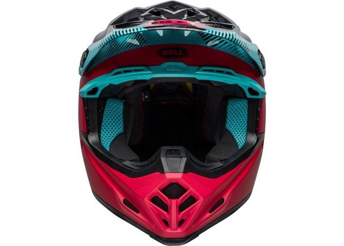 Bell Moto-9 MIPS Helm Chief Mat / Glanzend Zwart / Roze / Blauw