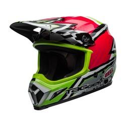 MX-9 MIPS Helm Tagger Asymmetrisch Glanzend Roze / Groen
