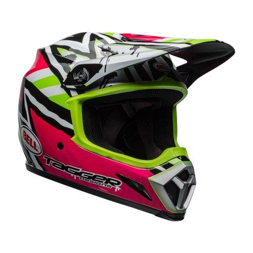 Bell MX-9 MIPS Helm Tagger Asymmetrisch Glanzend Roze / Groen