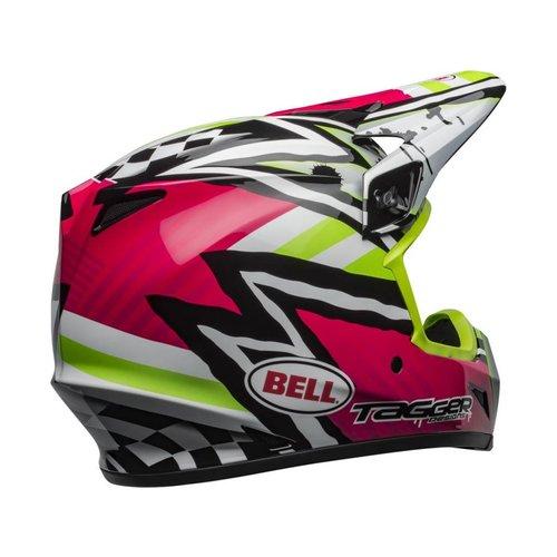 Bell MX-9 MIPS Helmet Tagger Asymmetric Gloss Pink/Green