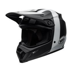 MX-9 MIPS Helm Presence Mat / Glanzend Zwart / Wit