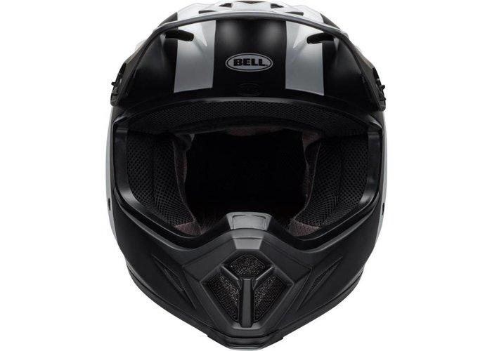 Bell MX-9 MIPS Helm Presence Mat / Glanzend Zwart / Wit