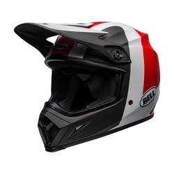 MX-9 MIPS Helm Presence Mat / Glanzed Zwart / Wit / Rood