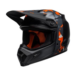 MX-9 MIPS Helm Presence Mat / Glanzend Zwart Neon Oranje / Camo