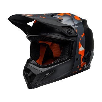 Bell MX-9 MIPS Helm Presence Matt / Glanz Schwarz Neonorange / Camo
