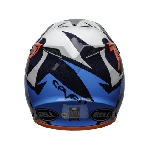 Bell MX-9 MIPS Helm Seven Ignite Glanzend Marine blauw / Koraal