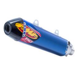 Husqvarna FC 250 350 450, FE501 /S Factory 4.1 RCT Slip-On Demper Titanium & Carbon Blauw geanodiseerd