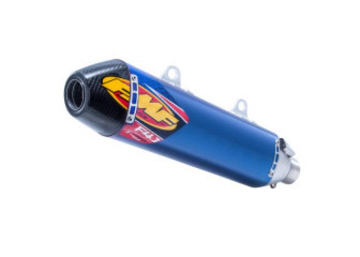 FMF Husqvarna FC 250 350 450, FE501 /S Factory 4.1 RCT Slip-On Demper Titanium & Carbon Blauw geanodiseerd