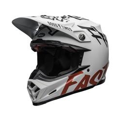 Moto-9 Flex Fasthouse WRWF Matte Gloss Weiss/Rot