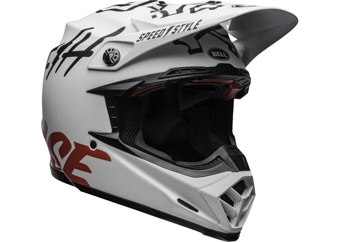 Bell Moto-9 Flex Fasthouse WRWF Matte Gloss Wit/Rood