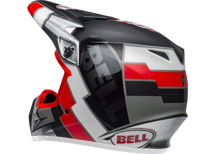 Bell MX-9 MIPS Helmet Twitch Replica Mat Zwart/Rood/Wit