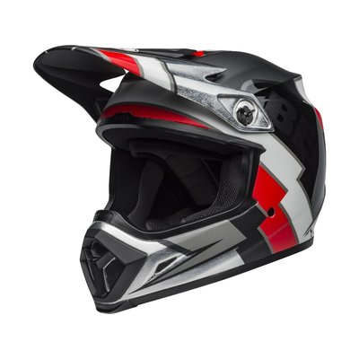 Bell MX-9 MIPS Helmet Twitch Replica Matte Schwartz/Rot/Weiss