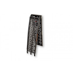 Aluminium Auffahrrampe bis 300 Kilo Schwarz