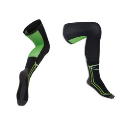 Socks High Green/Black for knee brace