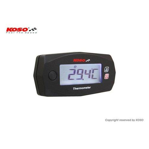 KOSO Dubbele Thermometer Mini 4 (Batterij) tot wel 250°C