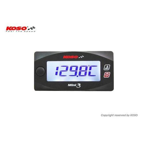 KOSO Dual Thermometer Mini 3 (met achtergrondverlichting)