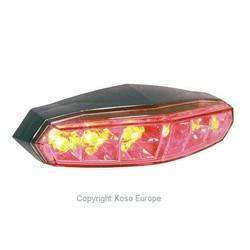 LED-achterlicht mini (rooklens) met kentekenverlichting