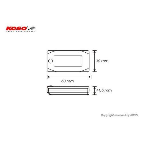 KOSO Clock Mini 3 met backlight