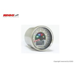 D64 Chrome Style Speedometer + Indicator lights (max. 260 km/h)