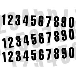 Startnummer Schwarz 130X70MM satz of 3 (wählen Sie Ihre Nummer)