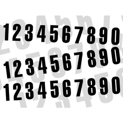 Blackbird Startnummer Schwarz 130X70MM satz of 3 (wählen Sie Ihre Nummer)