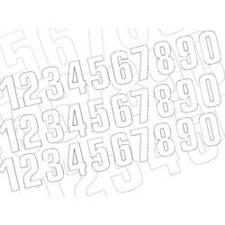 Startnummer Wit 130X70MM set van 3 (kies uw nummer)