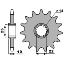 Kettenrad vorne TM 125/250/300/450 EN/MX 13t