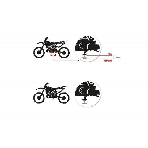 S3 Parts Hardrock Curve zwart voor Husqvarna / KTM / 2016 </ Gasgas 2020