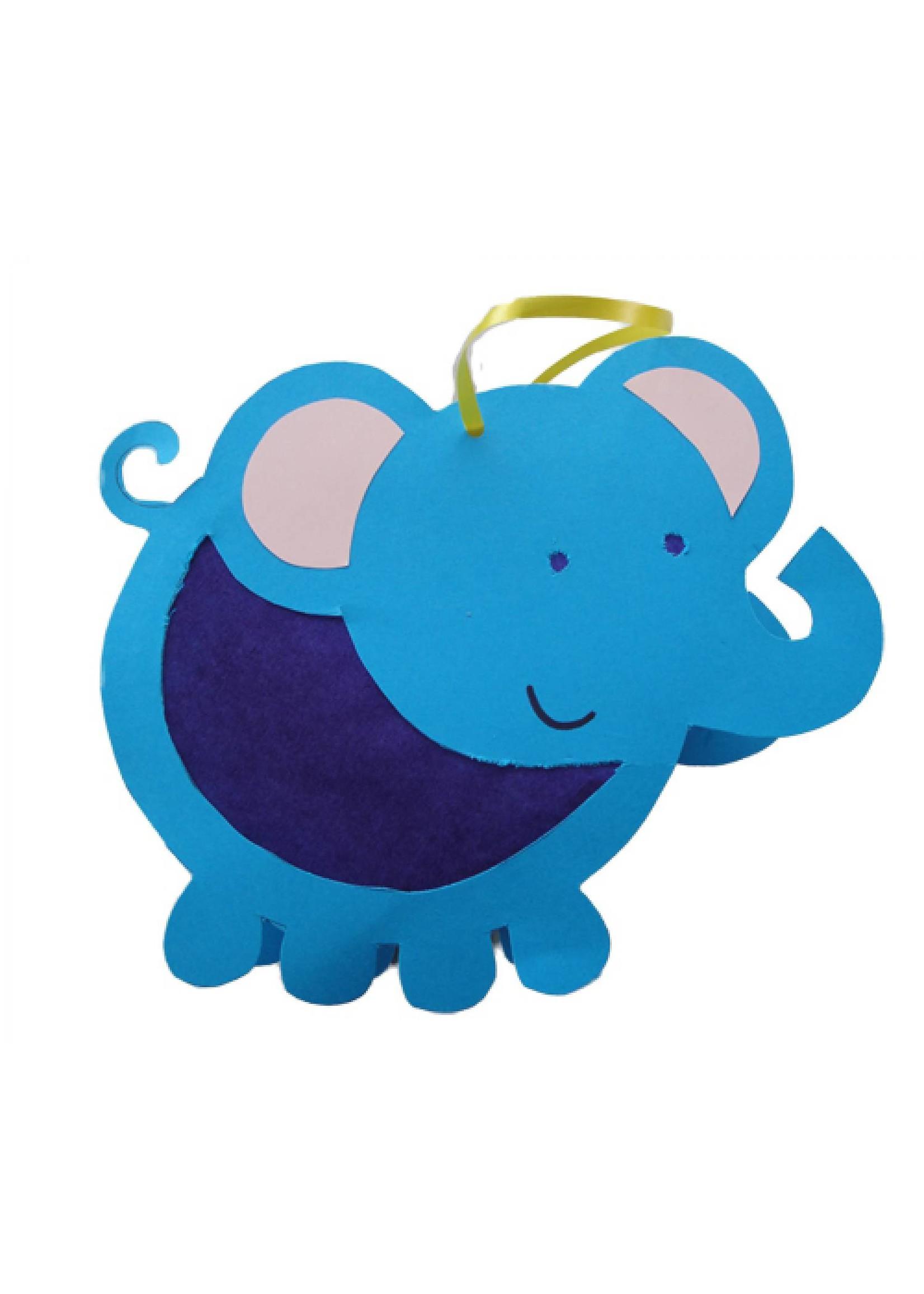 Lampion olifant digitaal