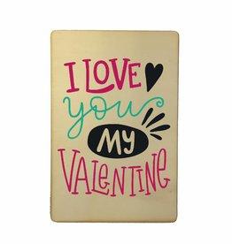 Houten kaartje Valentine