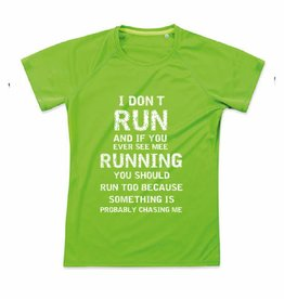 Sport shirt quick&dry - I don't run - kiwi groen