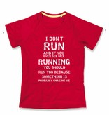 Sport shirt quick&dry - I don't run - koraal rood