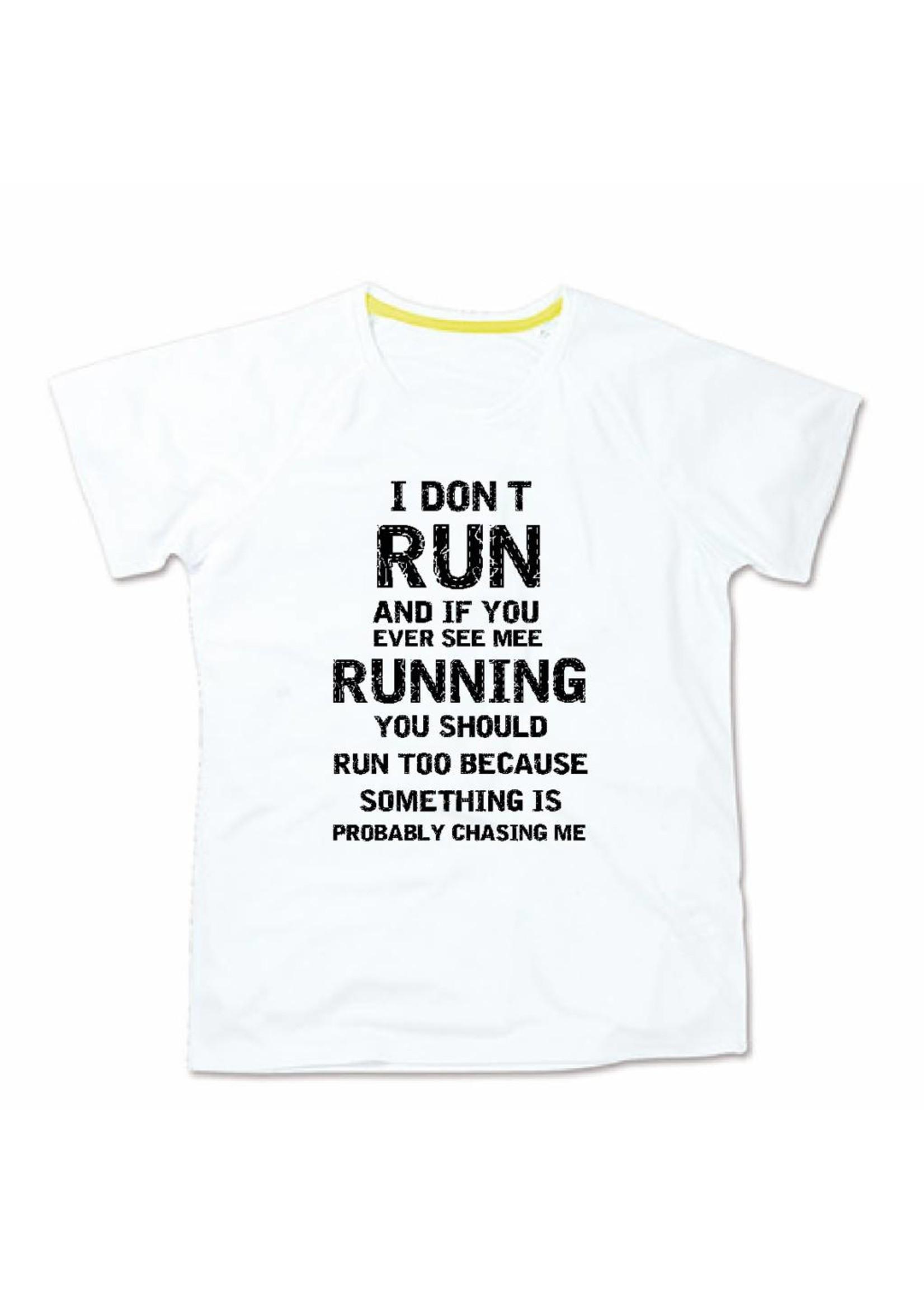 Sport shirt quick&dry - I don't run - wit