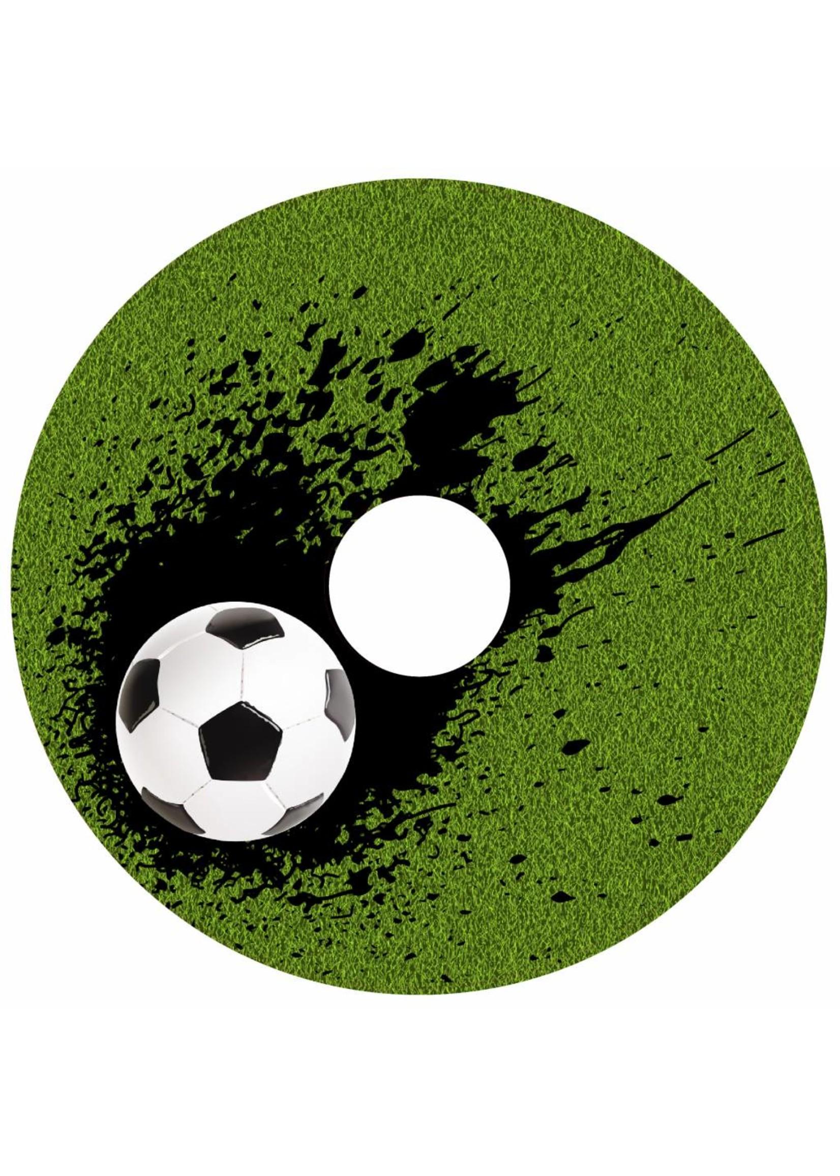 Rolstoelstickers voor spaakbeschermer - voetbal - 2 stuks