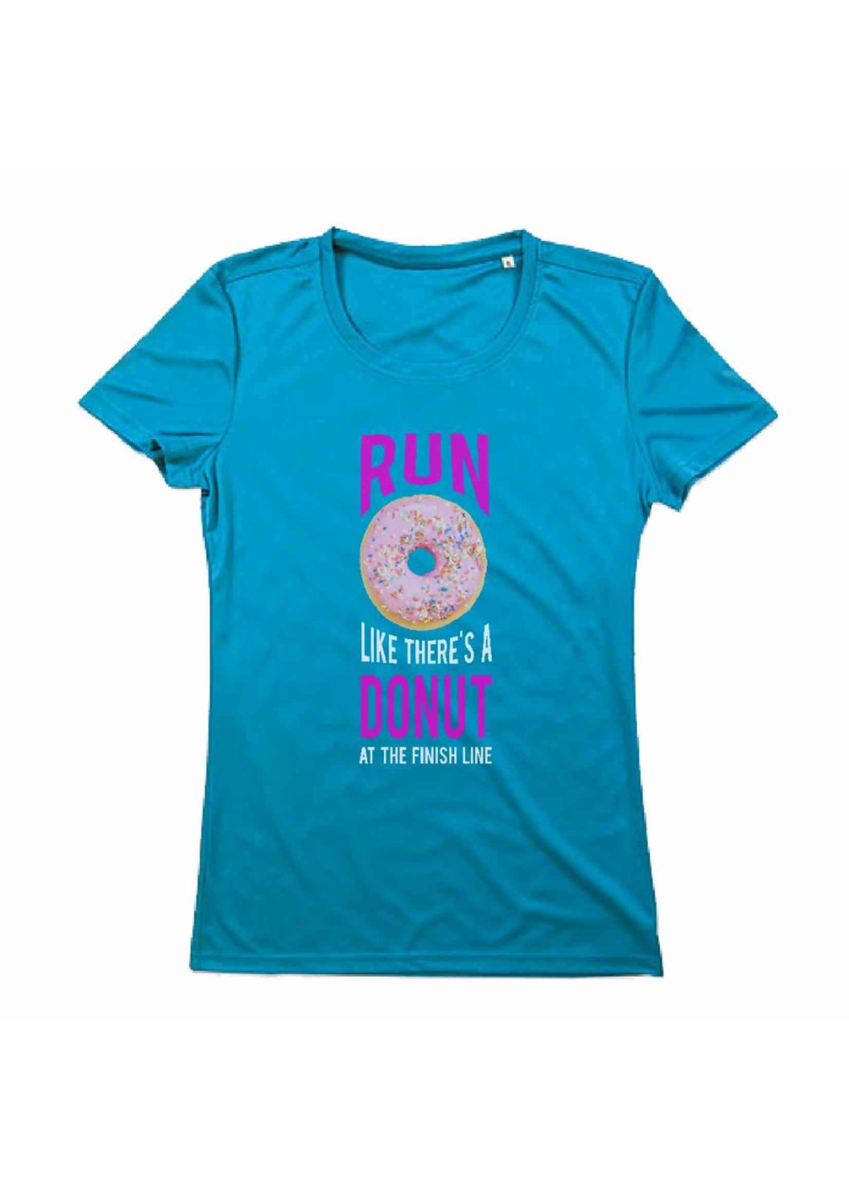 Sport shirt quick&dry - Run like there's a donut at the finish line