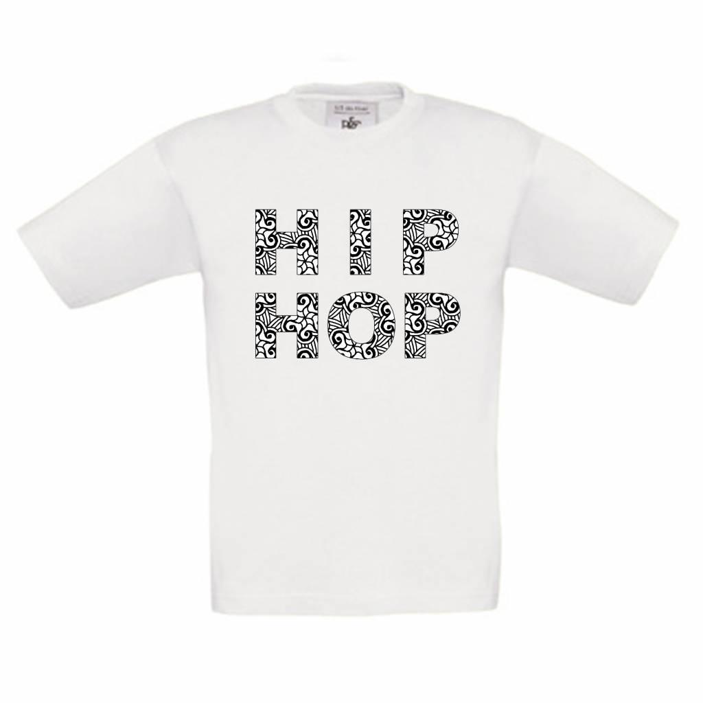 T-shirt Hiphop om in te kleuren