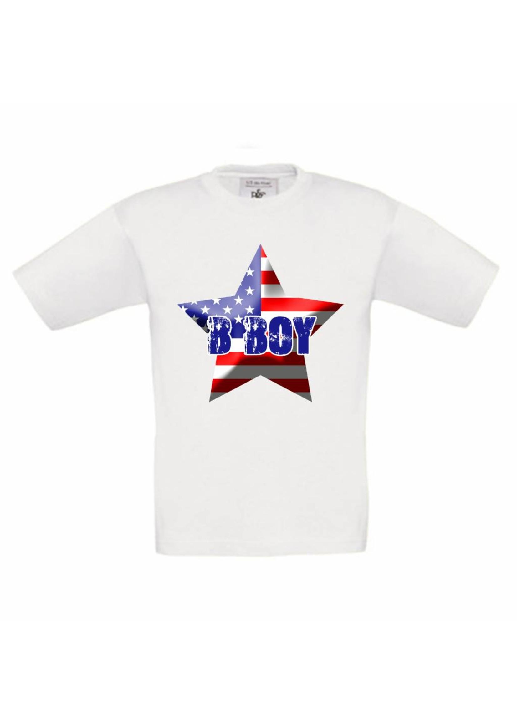 T-shirt Amerikaanse vlag met naam