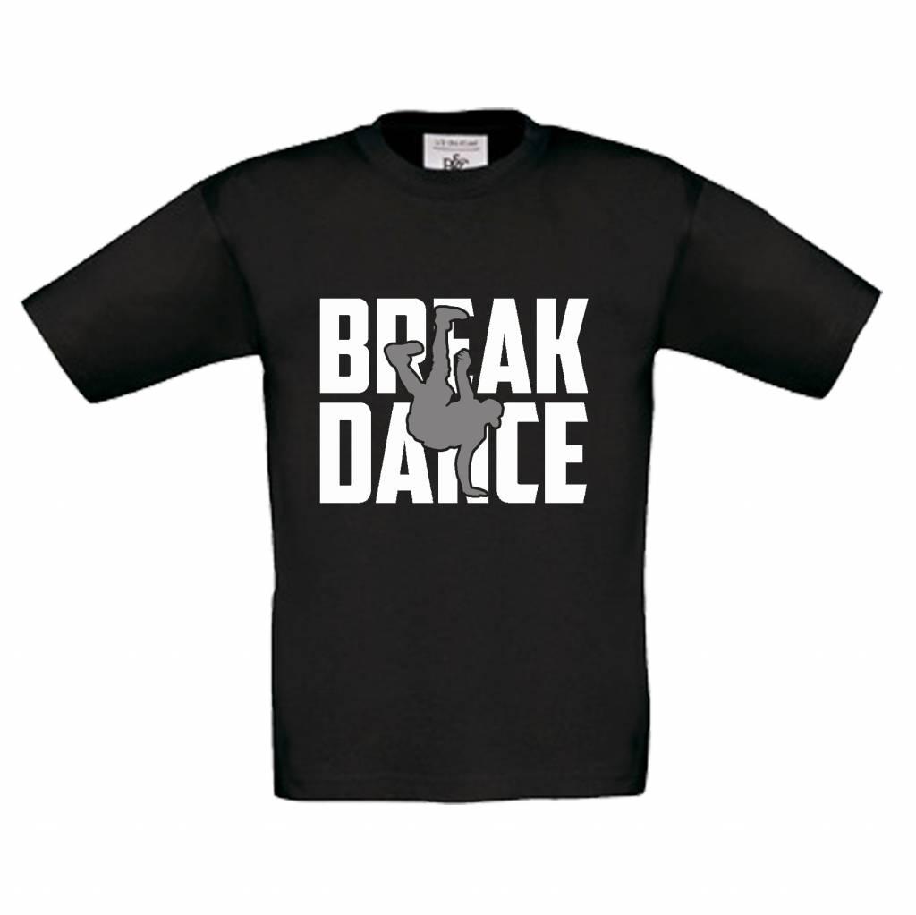 T-shirt Breakdance zwart
