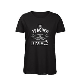 This teacher survived 2016-2017 met the floor is lava t-shirt voor de juf