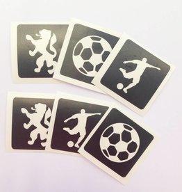 Voetbal tattoo sjablonen