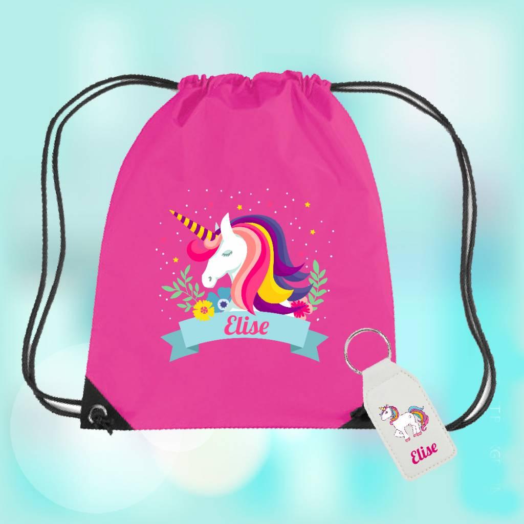 Gymtas unicorn met naam
