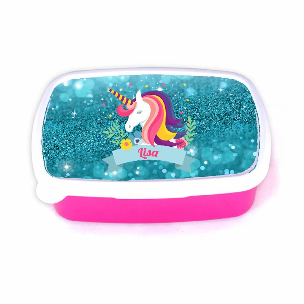 Lunchbox unicorn met naam