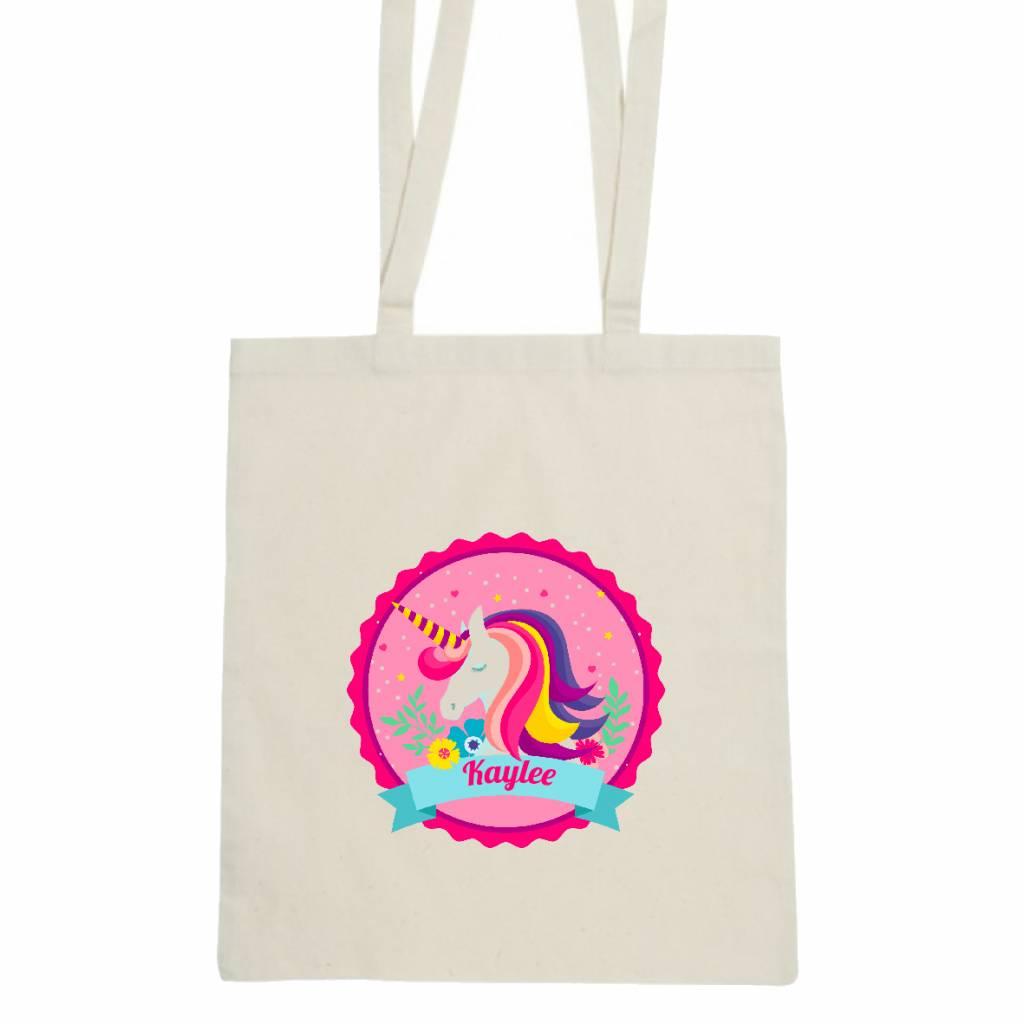 Unicorn tas met naam