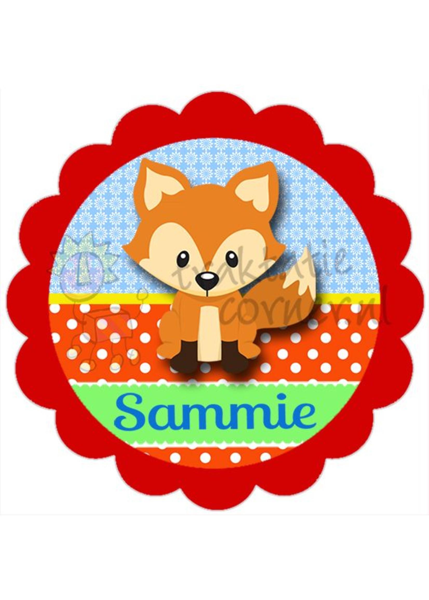 Strijkapplicatie vos met naam